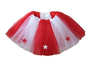 LONG ALLSTAR Tutu White Red