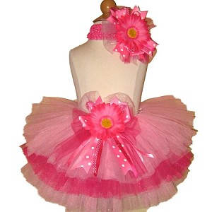 Birthday Tutu Pink Hot Pink