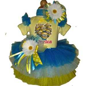 Despicable Me Minion Birthday Tutu Set