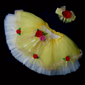 YELLOW BELL Tutu . 2T to 6X