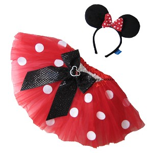 Short Red Tutu & MINNIE MOUSE Ears