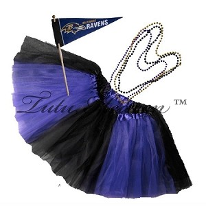 Girls Plus Size Team Spirit Tutu Set BALTIMORE
