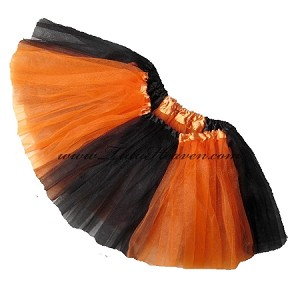 Girls to Plus Size Team Spirit Tutu BLACK ORANGE