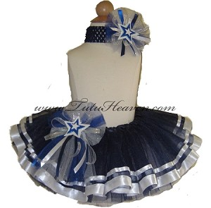 Ribbon Tutu Set Navy White