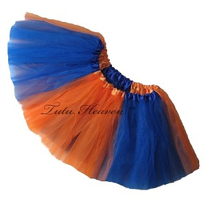 Girls to Plus Size Team Spirit Tutu ORANGE ROYAL