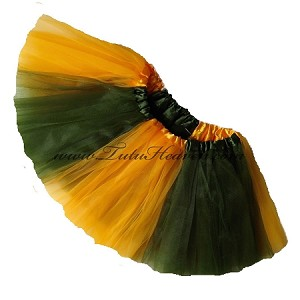 Girls to Plus Size Team Spirit Tutu OLIVE GOLD