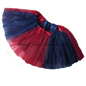 Girls to Plus Size Team Spirit Tutu NAVY BURGUNDY