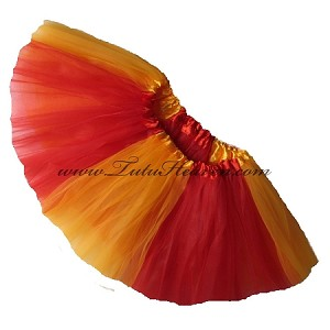 Girls to Plus Size Team Spirit Tutu RED GOLD