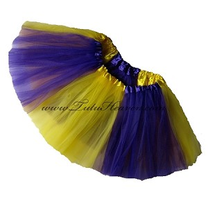 Girls to Plus Size Team Spirit Tutu PURPLE YELLOW