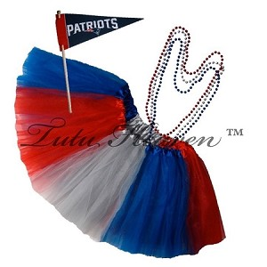 Girls Plus Size Team Spirit Tutu Set NEW ENGLAND