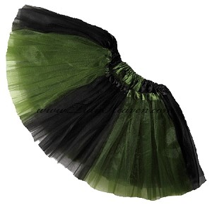 Girls to Plus Size Team Spirit Tutu OLIVE BLACK
