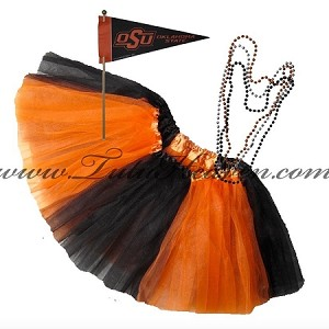 Girls Plus Size Team Spirit Tutu Set OKLAHOMA ST