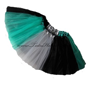 Girls to Plus Size Team Spirit Tutu JADE GREY BLACK