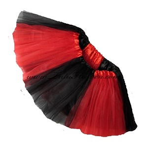 Girls to Plus Size Team Spirit Tutu RED BLACK
