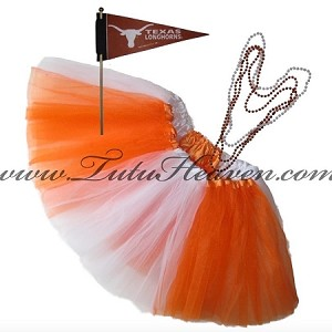 Girls Plus Size Team Spirit Tutu Set Texas LH