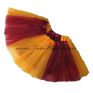 Girls to Plus Size Team Spirit Tutu BURGUNDY GOLD