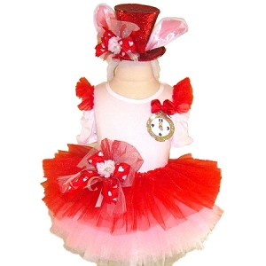 Alice in Wonderland White Rabbit Tutu Set