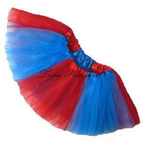 Red Blue Tutu . INFANT to 6X