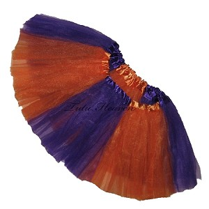 Girls to Plus Size Team Spirit Tutu PURPLE ORANGE