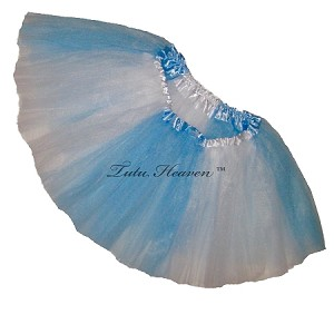 Girls to Plus Size Team Spirit Tutu LIGHT BLUE WHITE