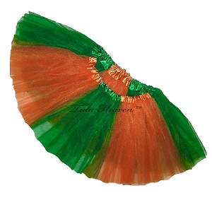 Girls to Plus Size Team Spirit Tutu KELLY GREEN ORANGE