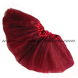 Girls to Plus Size Burgundy Tutu