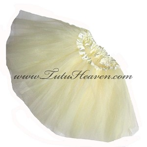 Girls to Plus Size Ivory Tutu