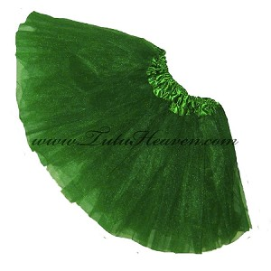 Girls Kelly Green Tutu