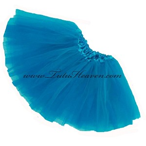 Girls to Plus Size Neon Blue Tutu