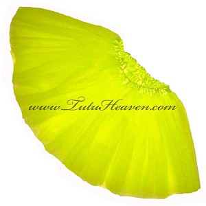 Girls to Plus Size Neon Yellow Tutu