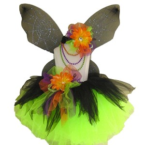 Gothic Spider Fairy Tutu Black Lime