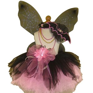 Spider Fairy Tutu Set Black Pink