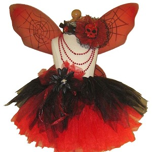 Gothic Spider Fairy Tutu Set Black Red
