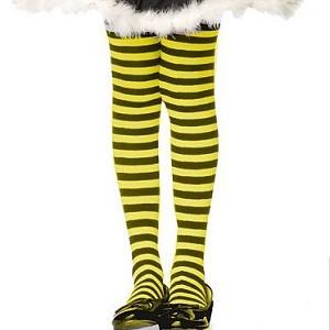8d12e37bcc29a Girls Black Yellow Striped Tights | TuTu Heaven