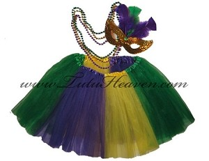 LONG Mardi Gras Tutu SET
