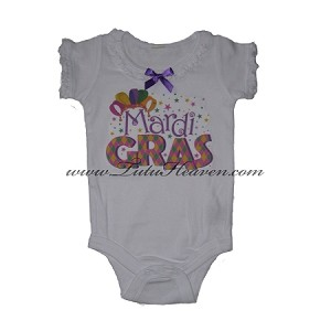 Mardi Gras Infant Creeper Party