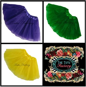 Mardi Gras Tutus Solid . INFANT to 6X