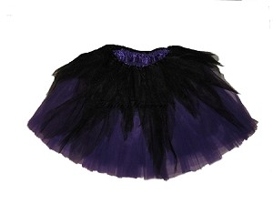 LONG Shredded Black Purple Tutu