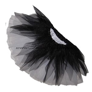 SHORT Shredded Black White Tutu