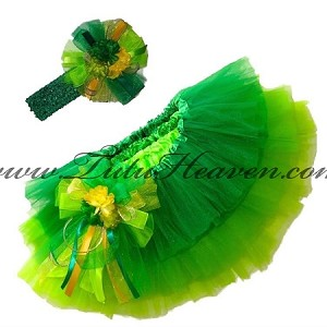 St Patricks Day Tri Green Tutu Set
