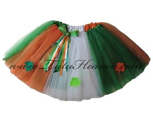 LONG Irish Flag Tutu SHAMROCKS