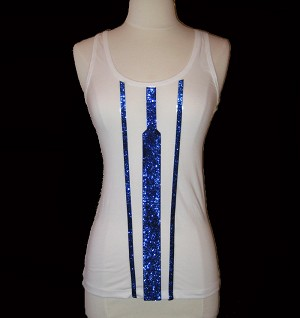 R2D2 Racer Back Tank Top . White