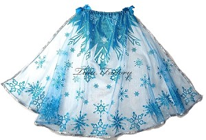 Snow Queen Turquoise Glitter Snowflake Cape - Short