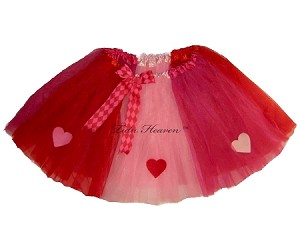 LONG Valentine Tutu Hearts